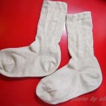 【無印】直角足なり靴下と【ホットコット】綿混あったかキッズスパッツがお気に入り。